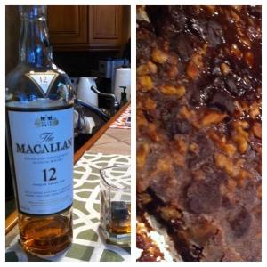 Fine scotch and simple dessert